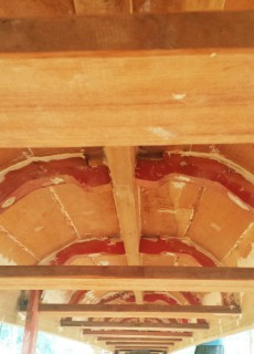 Underneath the dragon boat