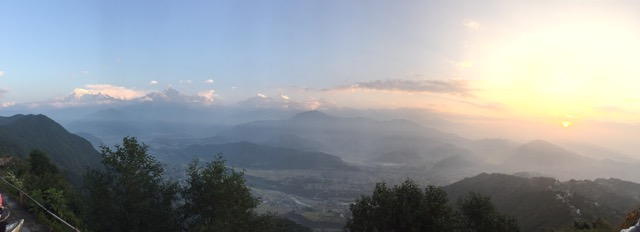 The sunrise from Sarangkot