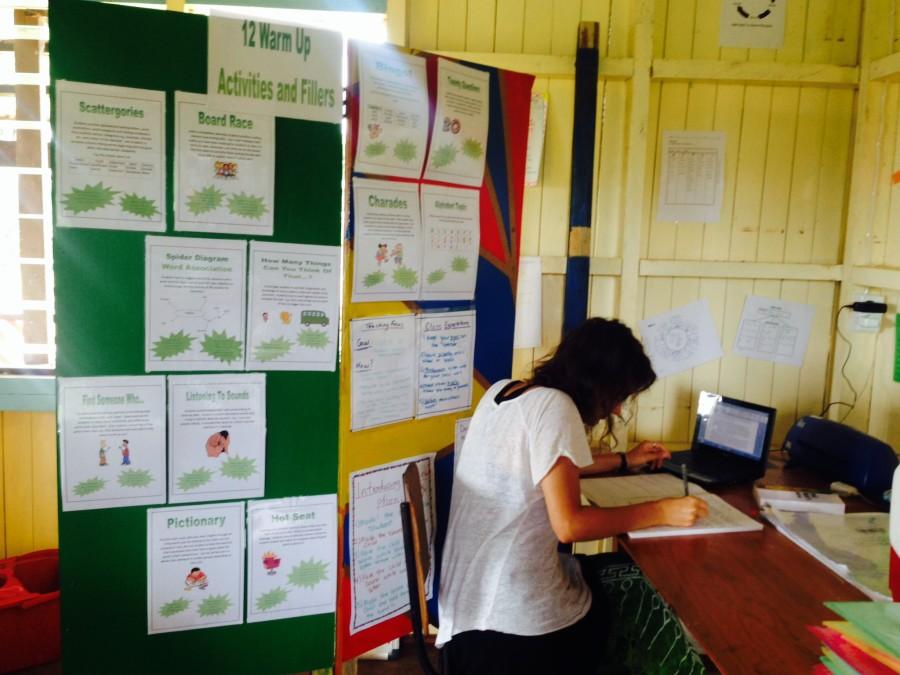 Volunteer Rachel who created the resources
