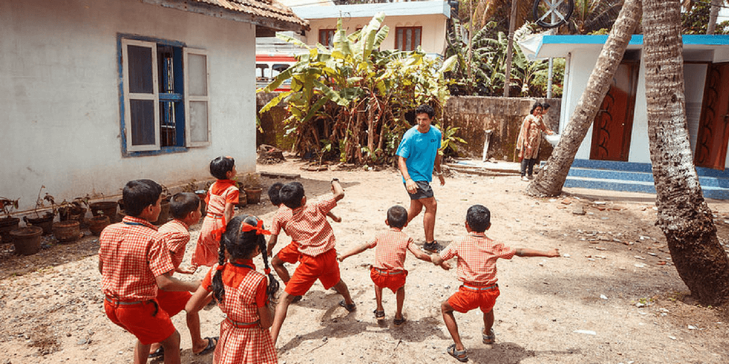 Christmas volunteering in India.