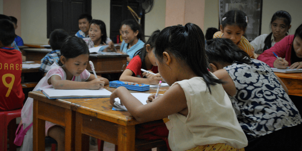 Teens volunteering in Laos will work with young learners at the Luang Prabang library.