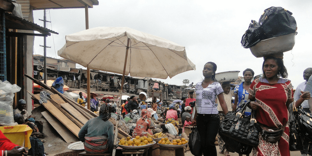 pictures of ghana bazzar marketplace Accra