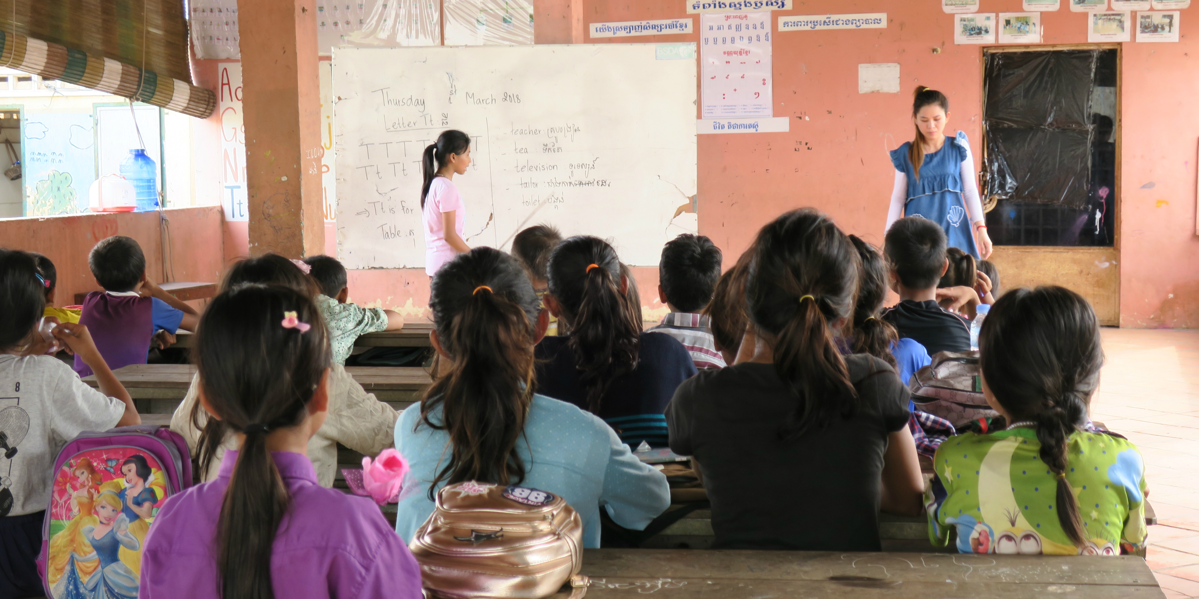 Teens volunteering in Laos will be working with young learners at the Luang Prabang library.