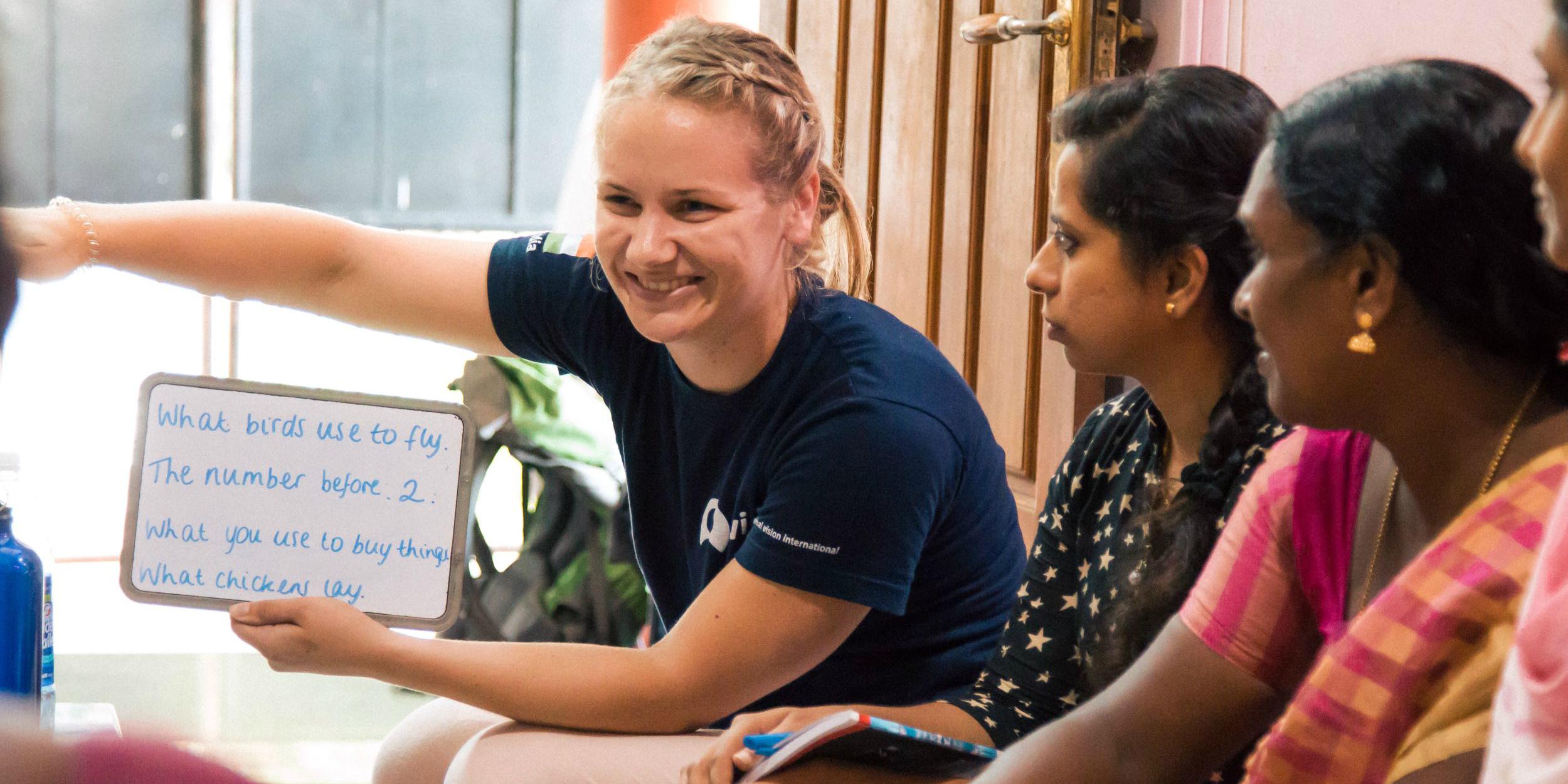 GVI volunteer participating in womens empowerment workshops