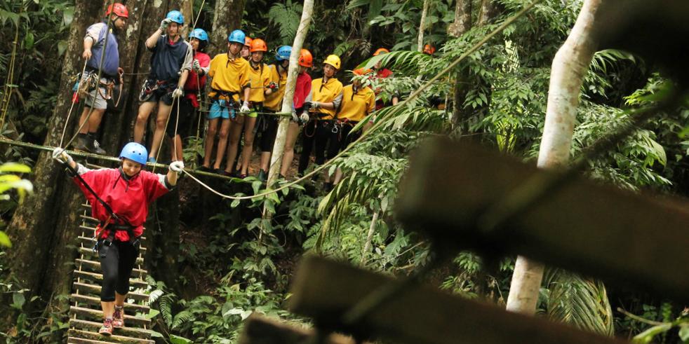 Volunteer opportunities for teens often include plenty of opportunities to be adventurous