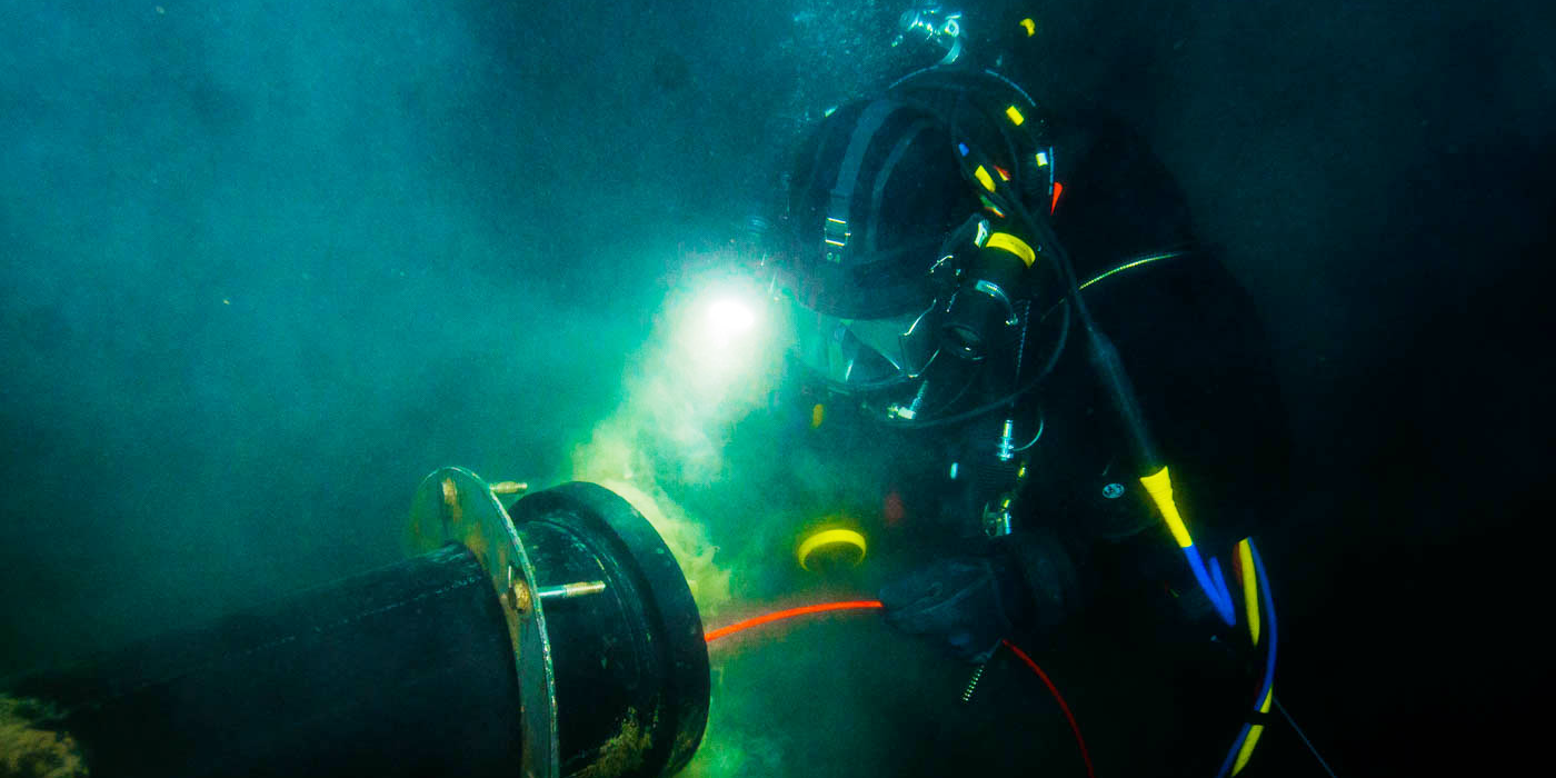 PADI pros could opt to work as commercial divers, helping to build, maintain and monitor underwater structures.