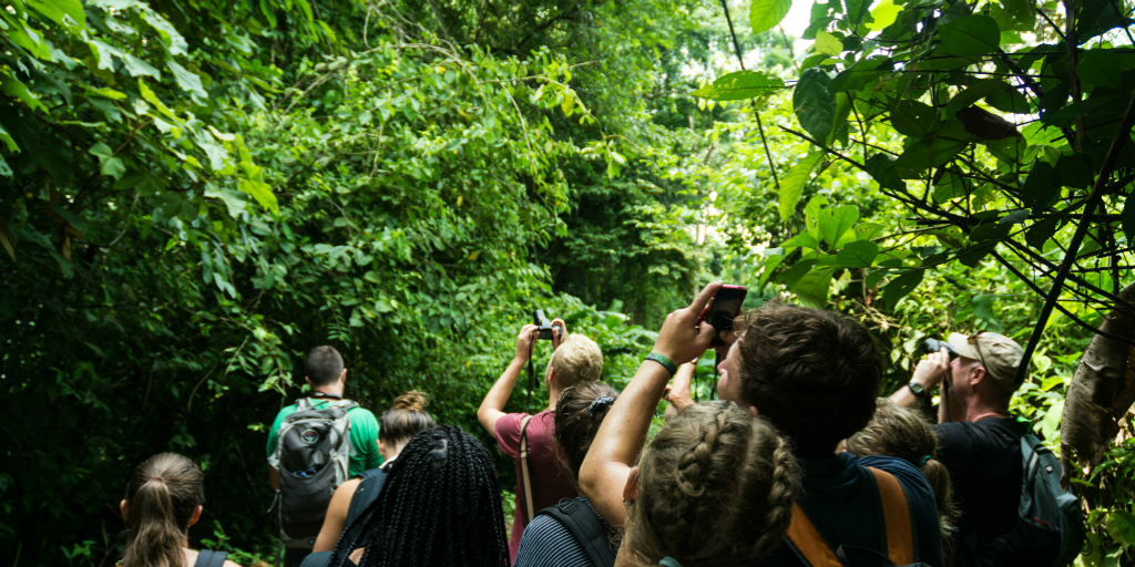 Volunteers in Costa Rica documenting their experience in Costa Rica