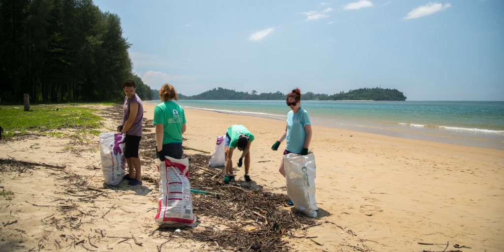 Help clean the beaches in Phang Nga Bay when you volunteer in Thailand.
