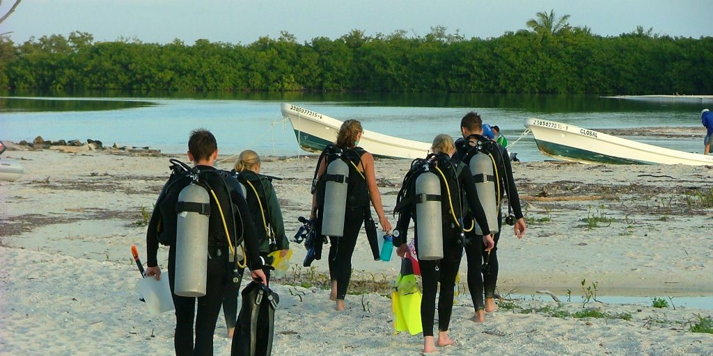 Volunteering abroad can lead you to learning new skills, for example diving, you had never thought you would