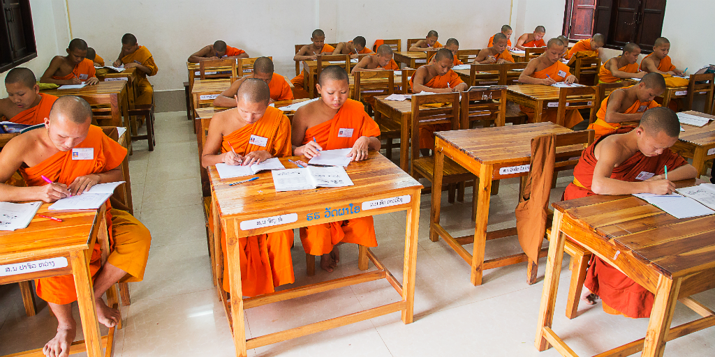Volunteering over Christmas is rewarding when you work with hard working novice monks in Laos