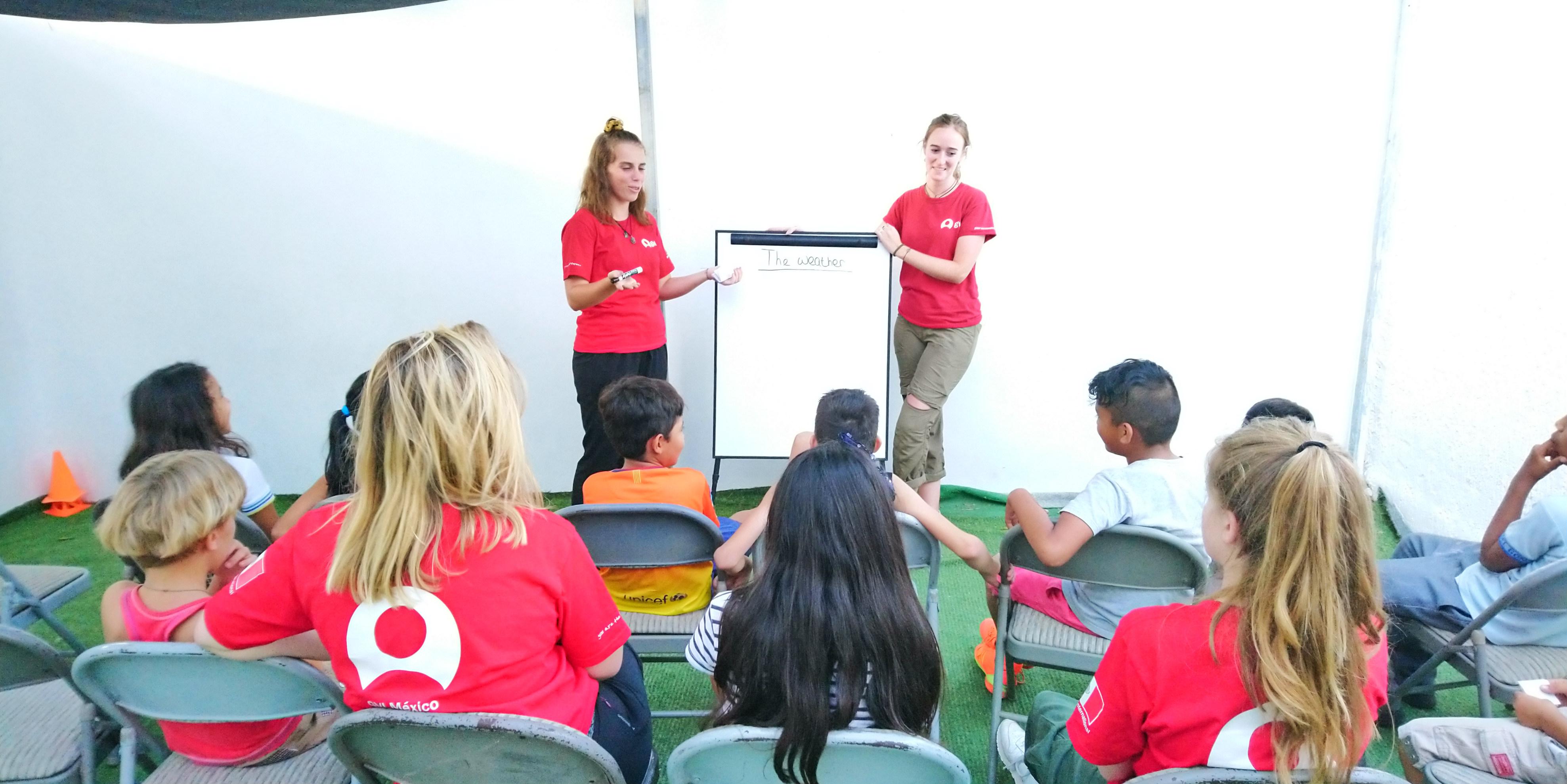 Several of GVI's gap year programs focus on teaching and community development workshops.