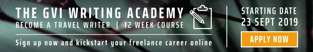 GVI Writing Academy banner.