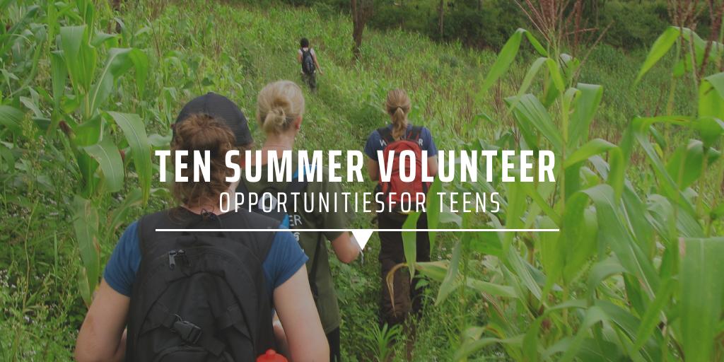 Ten summer volunteer opportunities for teens