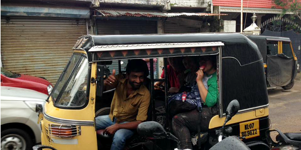 On your trip to Kerala, try a ride around on a local tuk tuk.