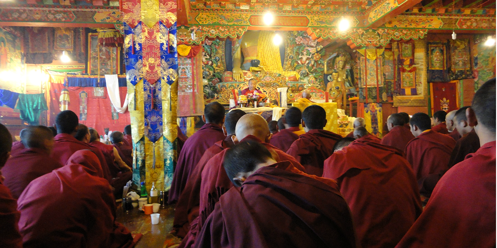 Visit a Buddhist monastery when you volunteer in Pokhara, Nepal