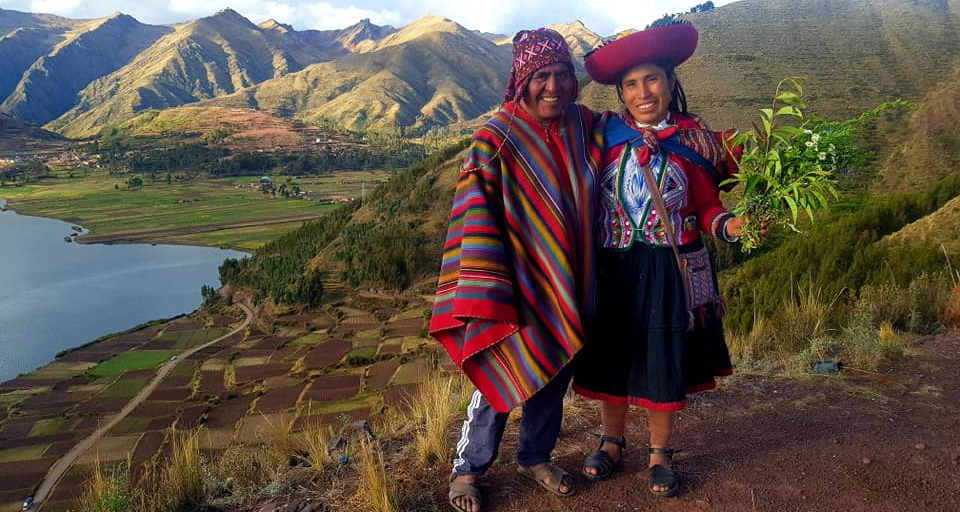 Cusco natives wearing traditional clothing