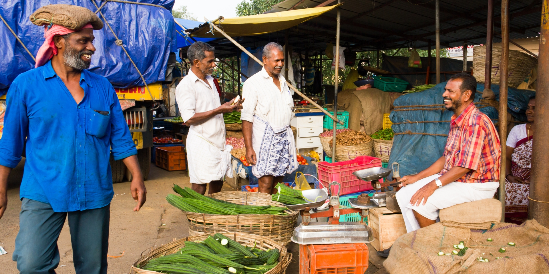 Experience Kerala through it's flavours and take in local markets like this one